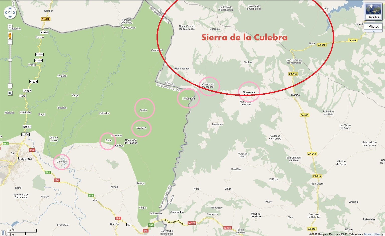 A Sierra de la Culebra Mapa0a
